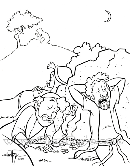 Holiday Coloring Pages  Jesus In The Garden Of Gethsemane