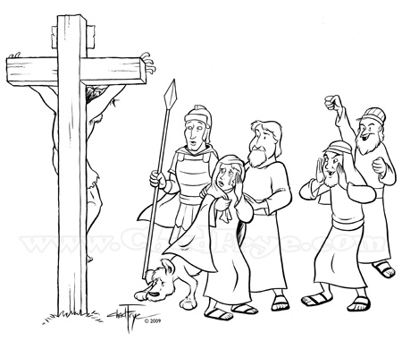 coloring page easter cross death color me pinterest